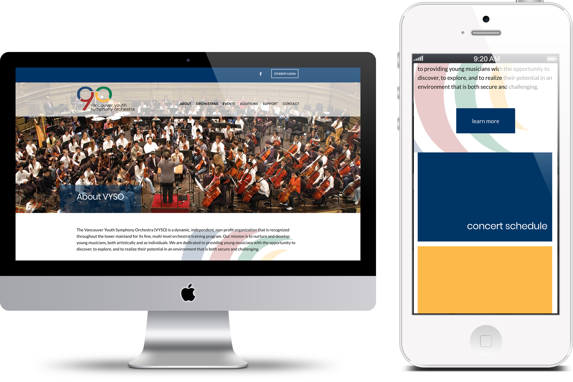 Vancouver Youth Symphony Orchestra Digital Marketing project in Scope Creative's Portfolio