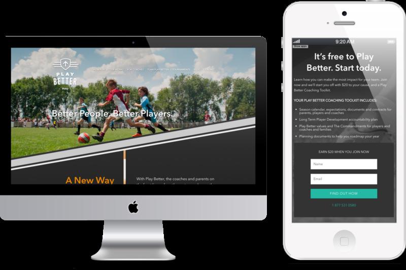 Play Better Digital Marketing project in Scope Creative's Portfolio